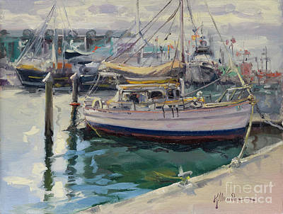 Painting - Dockside by Kristen Olson Stone