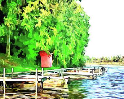 Digital Art - Dockside by Leslie Montgomery