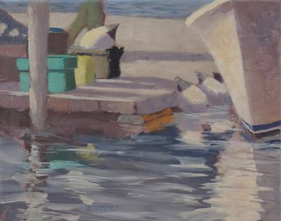 Painting - Dockside Shadows by Bill Tomsa