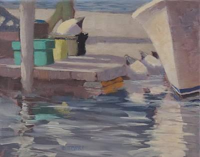 Painting - Dockside Shadows - Art By Bill Tomsa by Bill Tomsa