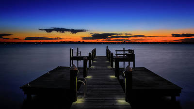 Photograph - Dockside Sunset by Bill Dodsworth