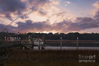 Photograph - Dockside Sunset Over The Wando by Dale Powell