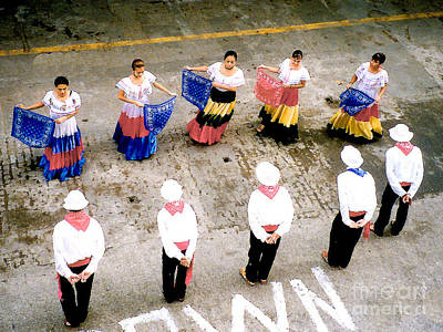 Photograph - Dockside Welcome Dance Upon Arrival In Costa Rico by Merton Allen