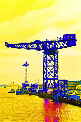 Barrow In Furness Wall Art - Photograph - Dockyard Cranes. by Stan Pritchard