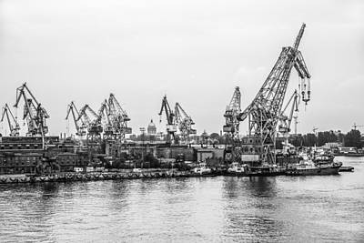 Photograph - Dockyard In St Petersburg Russia by Clare Bambers