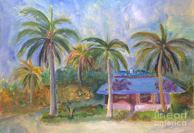 Plein Air Painting - Docs All American by Donna Walsh
