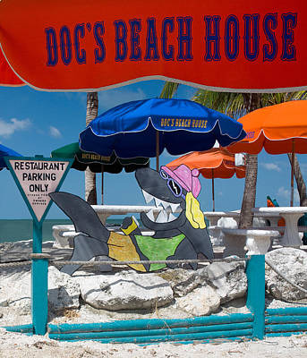 Doc's Beach House On Bonita Beach Art Print