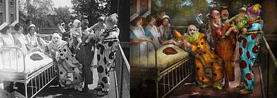 Freaky Photograph - Doctor - Fear Of Clowns 1923 - Side By Side by Mike Savad