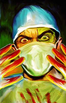 Caretaker Painting - Doctor Frankenstein Mark Spears Monsters by Mark Spears