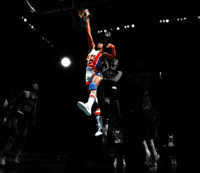 Dr. J Digital Art - Doctor J Over The Top by Brian Reaves