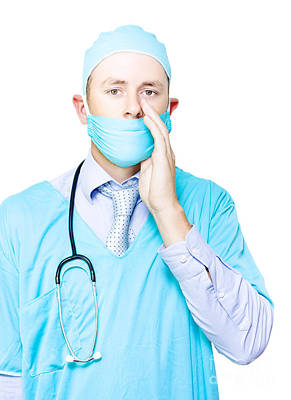 Disclosure Photograph - Doctor Making A Health Announcement by Jorgo Photography - Wall Art Gallery