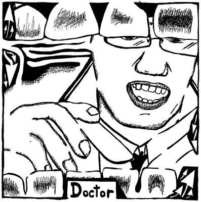 Doctor Maze Art Print by Yonatan Frimer Maze Artist