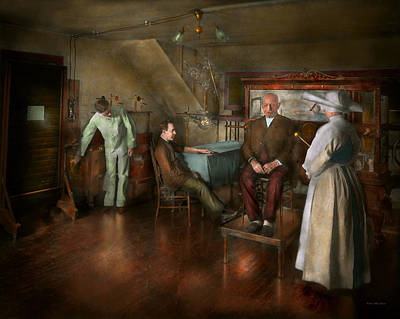 Photograph - Doctor - Old Fashioned Influence - 1905-45 by Mike Savad