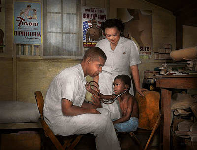Photograph - Doctor - Pediatrician - From The Heart 1942 by Mike Savad