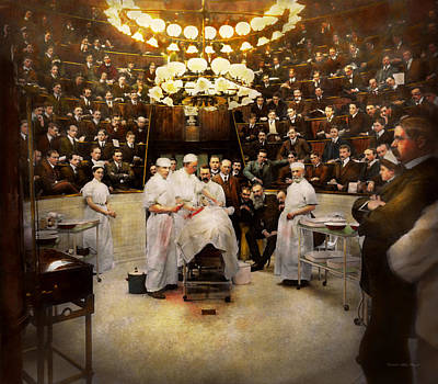 Doctor - Surgeon - Standing Room Only 1902 Art Print by Mike Savad