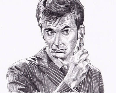 David Tennant Drawing - Doctor Who 10 by Kate Murray