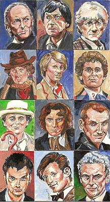 Painting - Doctor Who 1963 Till 2017 by Bryan Bustard