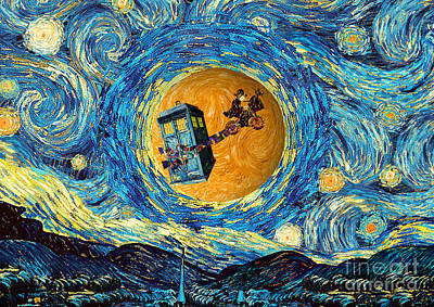 Digital Art - Doctor 4th At Starry Night  by Three Second