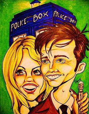 Doctor Who Print by Penny  Elliott