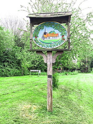 Doddinghurst Village Sign Print by Tom Gowanlock