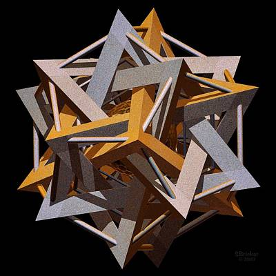 Digita Art Digital Art - Dodeca Star by Scott  Bricker