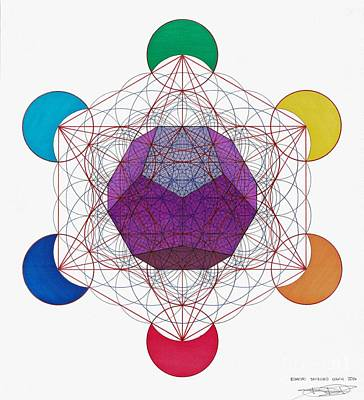 Metatron Cube Painting - Dodecahedron by Ernesto Barreiro