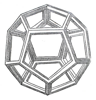 Pen And Ink Drawing Drawing - Dodecahedron by Leonardo da Vinci