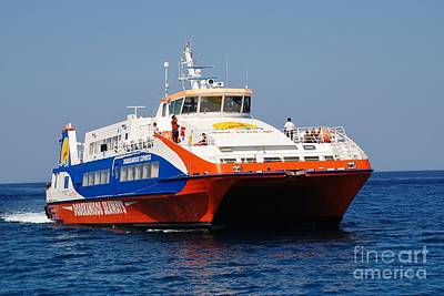 Photograph - Dodekanisos Express Ferry In Greece by David Fowler
