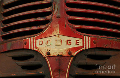 Photograph - Dodge 41 Grill by Steve Augustin