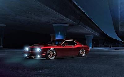 Challenger Digital Art - Dodge Challenger Avant Garde  by Anne Pool