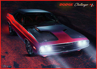 Digital Art - Dodge Challenger by Hay Rouleaux