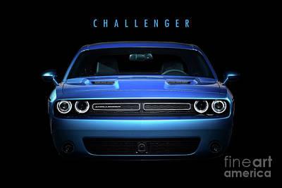 Challenger Digital Art - Dodge Challenger by J Biggadike
