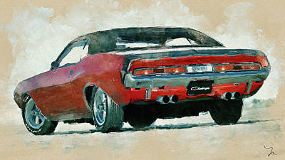 Digital Art - Dodge Challenger Painting by Yury Malkov