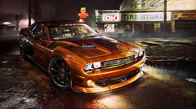 Dodge Challenger R T Art Print by Movie Poster Prints