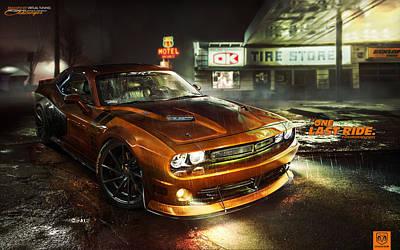 Challenger Digital Art - Dodge Challenger Rt  by F S