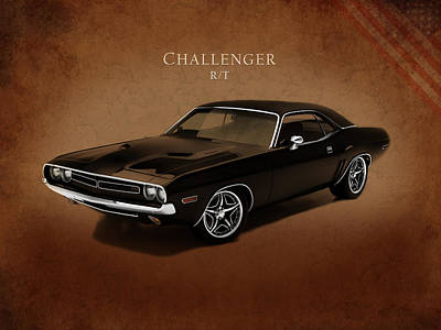 Dodge Challenger Rt Print by Mark Rogan