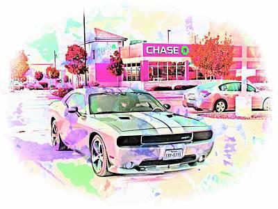 Challenger Digital Art - Dodge Challenger Srt _a4 by Walter Herrit