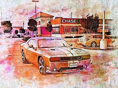 Challenger Digital Art - Dodge Challenger Srt _a7 by Walter Herrit