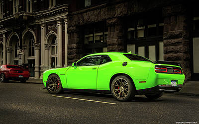 Challenger Digital Art - Dodge Challenger Srt Hellcat 2015 1920x1200 011 by Anne Pool