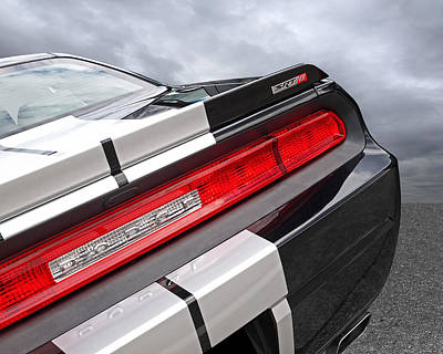 Photograph - Dodge Challenger Srt Rear Detail by Gill Billington