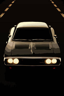 Photograph - Dodge Charger 1969 by Andrea Mazzocchetti