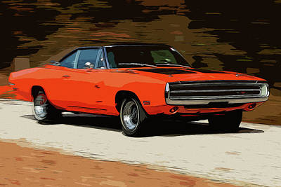 Painting - Dodge Charger Fullspeed by Andrea Mazzocchetti