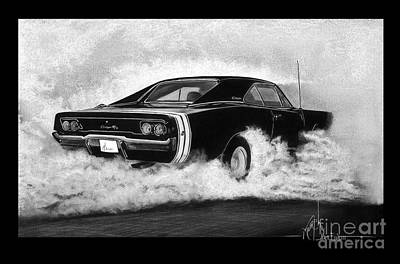 Chargers Drawing - Dodge Charger by Murphy Elliott