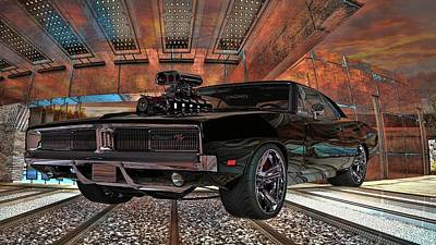 Photograph - Dodge Charger R/t 1969 Hemi by Louis Ferreira