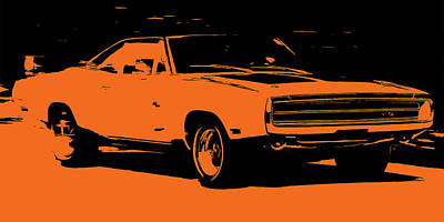 Painting - Dodge Charger Rt - Orange Edition by Andrea Mazzocchetti