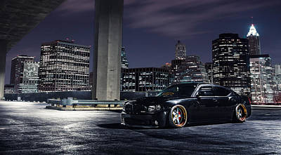 Skyline Digital Art - Dodge Charger Srt8 by Super Lovely