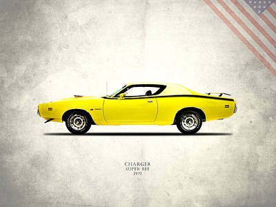Dodge Charger Super Bee Art Print by Mark Rogan