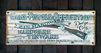 Hardware Mixed Media - Dodge City 1872 Zin Hardware Signage by Thomas Woolworth