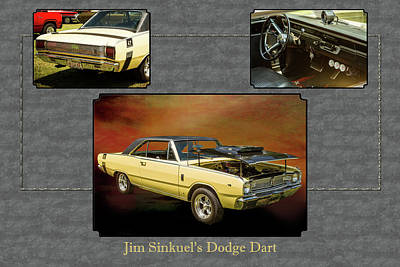 Photograph - Dodge Dart Photographic Print 5533,10 by M K Miller