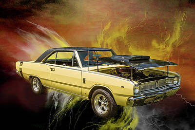 Photograph - Dodge Dart Photographic Print 5533,14 by M K Miller